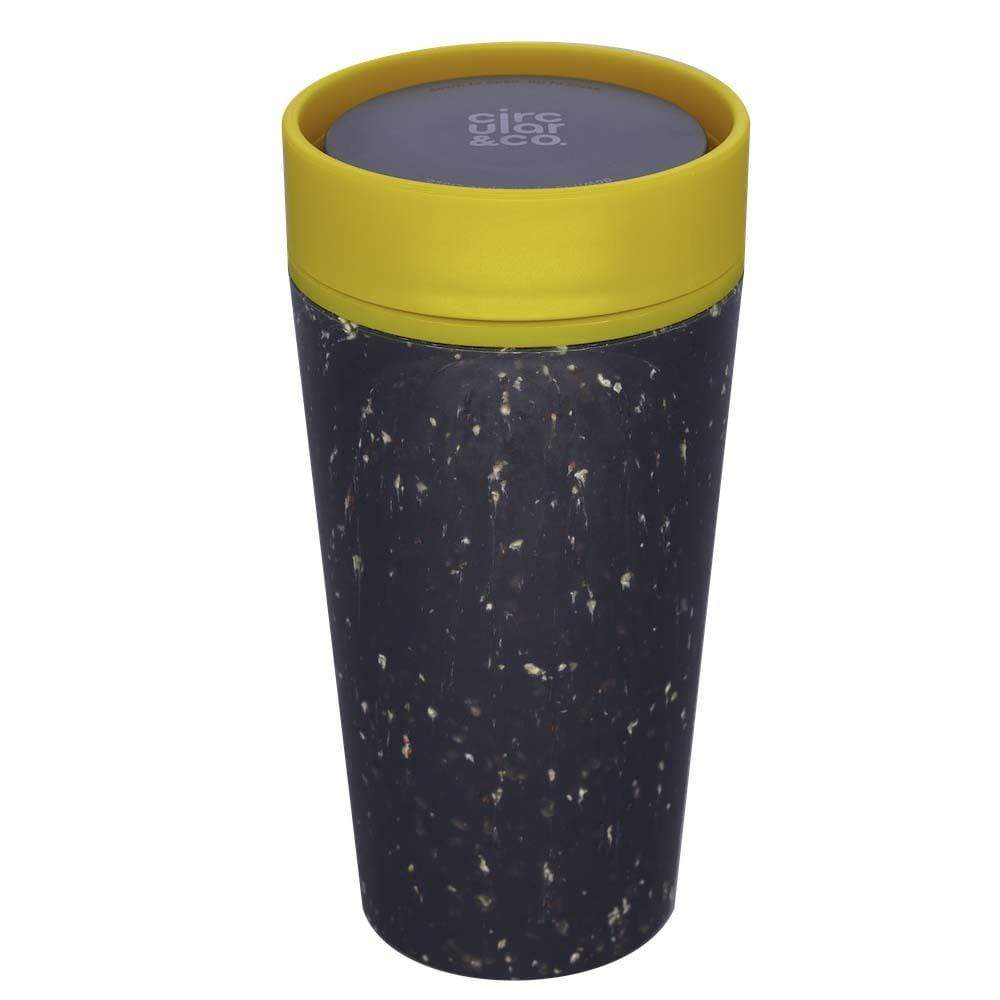 Circular Cup (formerly rCUP) Recycled Coffee Cup 12oz (340ml) - Black & Mustard &Keep