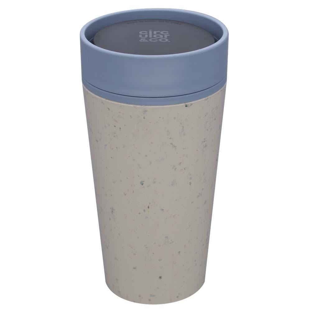 Circular Cup (formerly rCUP) Recycled Coffee Cup 12oz (340ml) - Cream & Teal &Keep