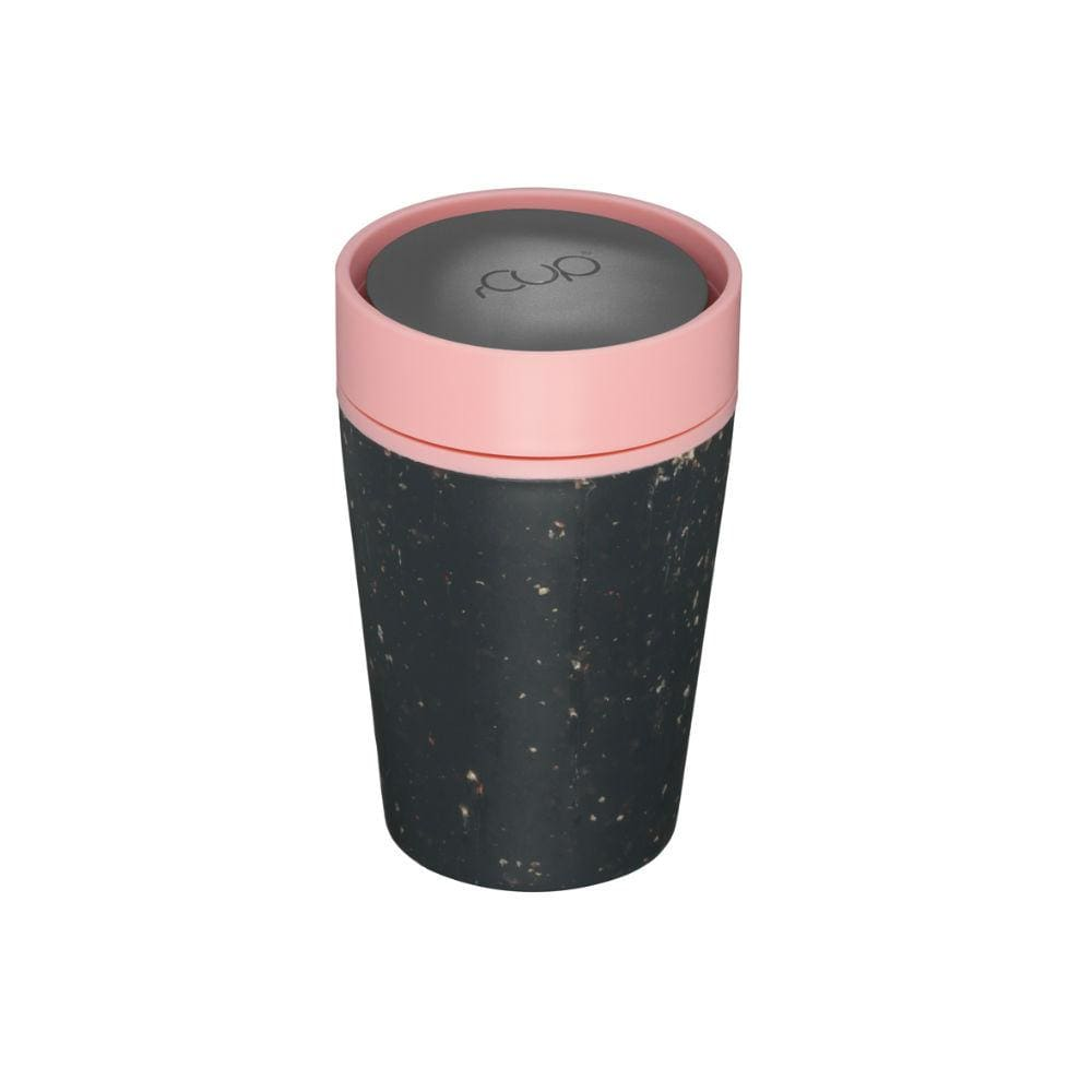 rCUP rCUP Recycled Coffee Cup 8oz (227ml) - Black & Pink &Keep