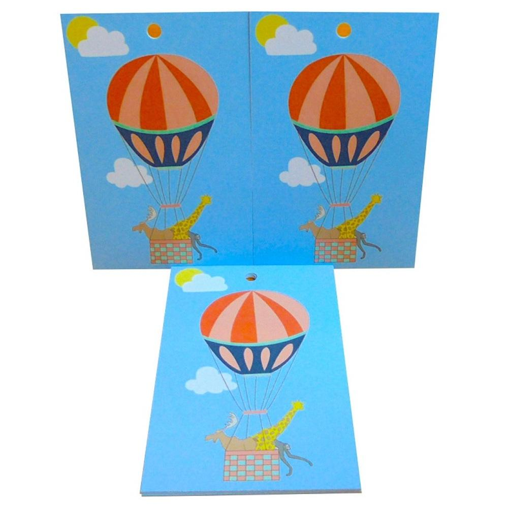 Eco Friendly Recycled Wrapping Paper & Gift Tag - Balloon Animals Re-wrapped &Keep