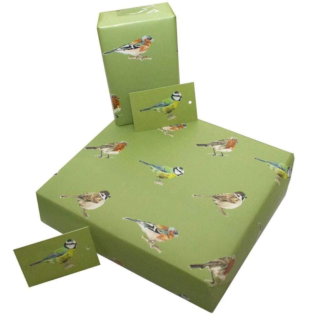 Eco Friendly Recycled Wrapping Paper & Gift Tag - Native Birds Re-wrapped &Keep