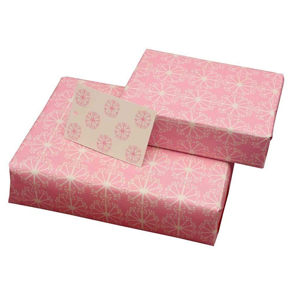 Eco Friendly Recycled Wrapping Paper & Gift Tag - Pink Ditsy Re-Wrapped &Keep