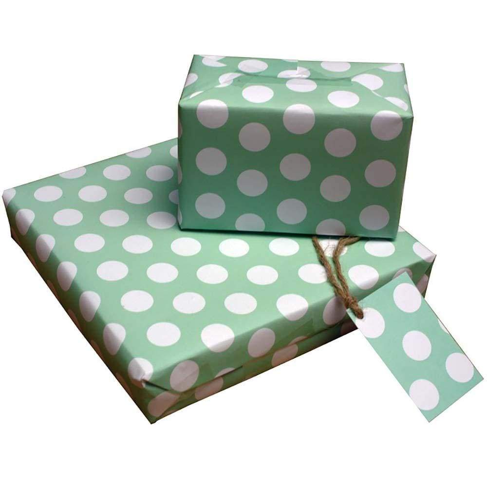 Eco Friendly Recycled Wrapping Paper & Gift Tag - Polka Dot Re-wrapped &Keep