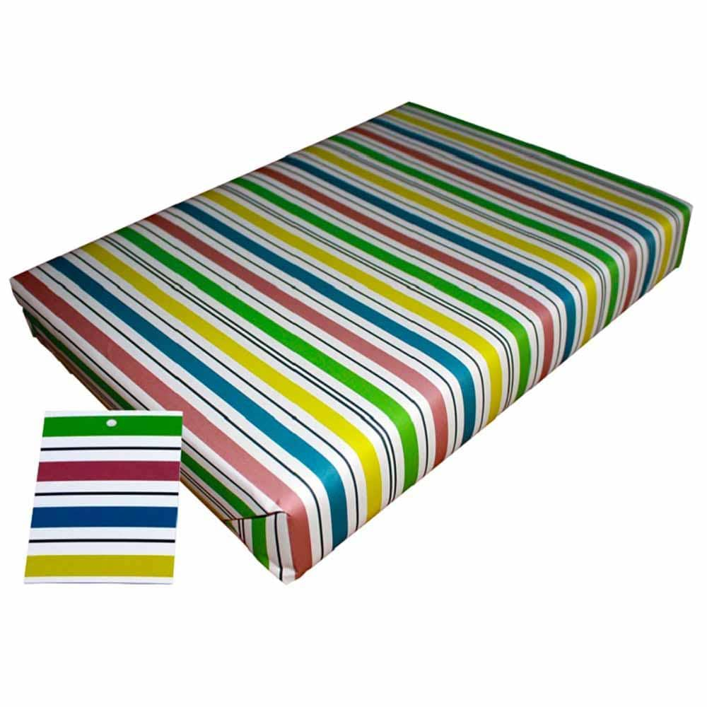 Eco Friendly Recycled Wrapping Paper & Gift Tag - Stripey Re-wrapped &Keep