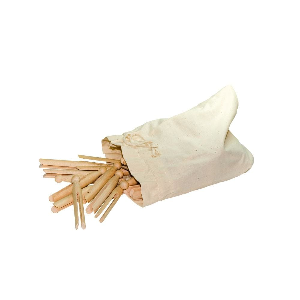 Redecker Wooden Dolly Pegs - Cotton Bag of 50 &Keep