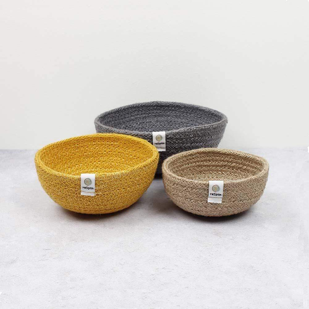 Respiin Jute Mini Bowl Set - Beach &Keep