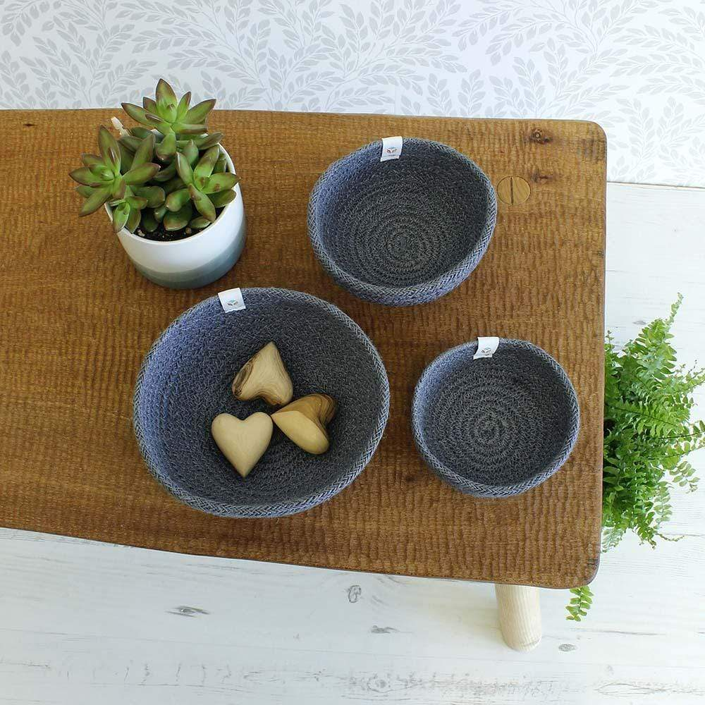 Respiin Jute Mini Bowl Set - Grey &Keep