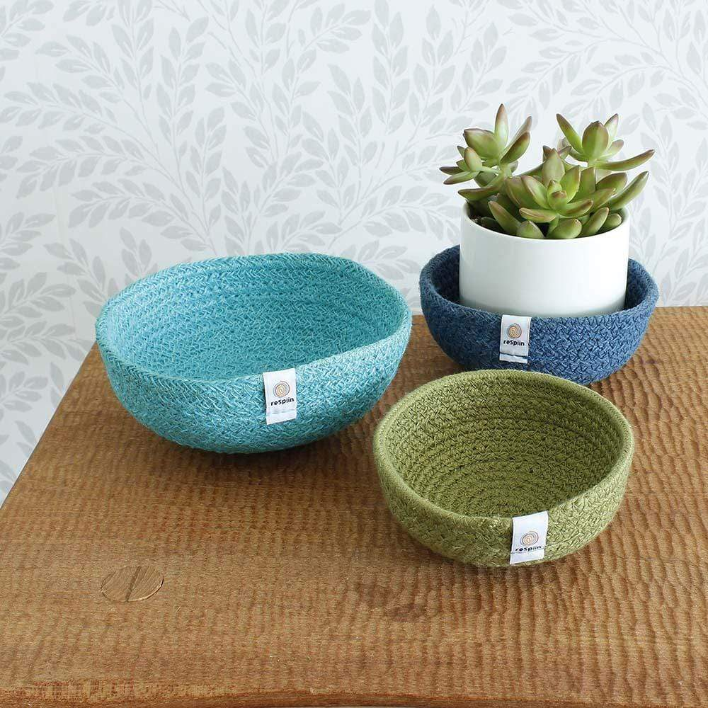 Respiin Jute Mini Bowl Set - Ocean &Keep