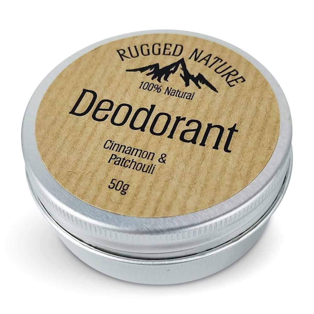 Cinnamon & Patchouli Deodorant Balm by Rugged Nature &Keep