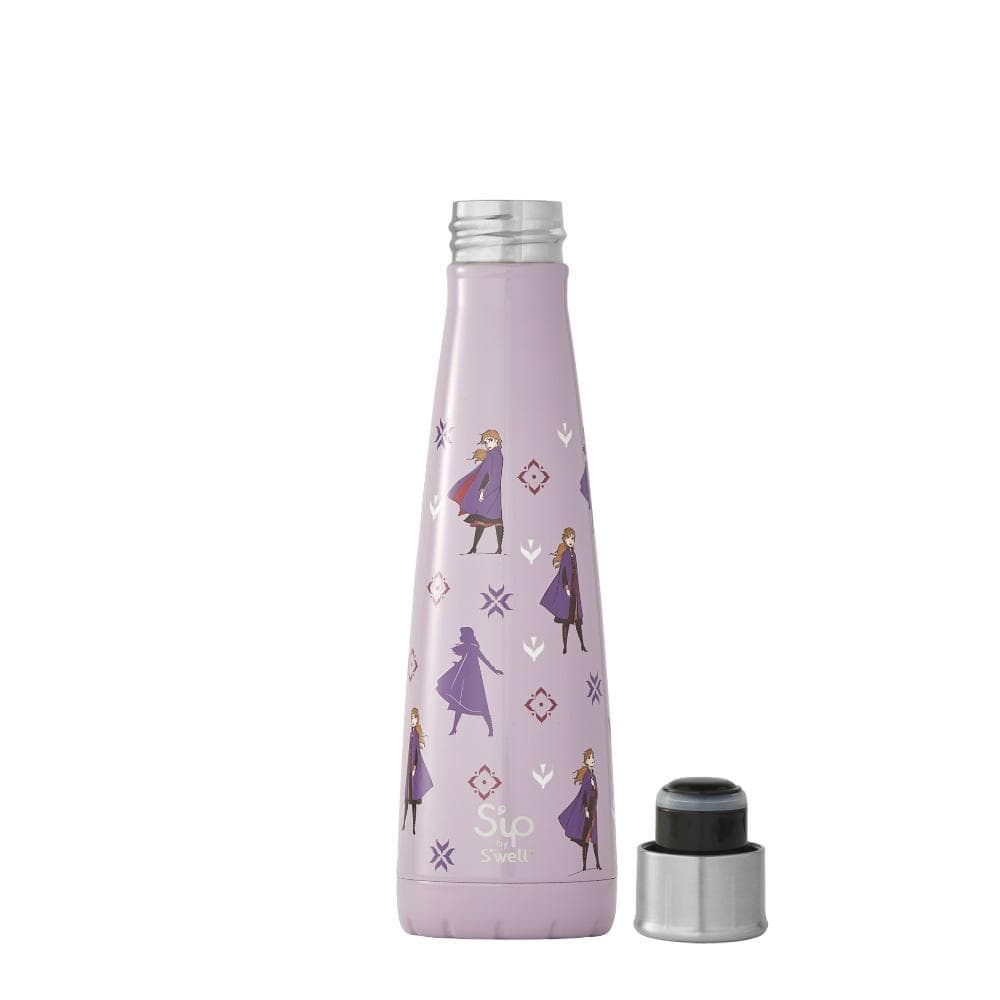 S'ip by S'well Stainless Steel Insulated Bottle 450ml - Disney Frozen Brave Princess Anna &Keep