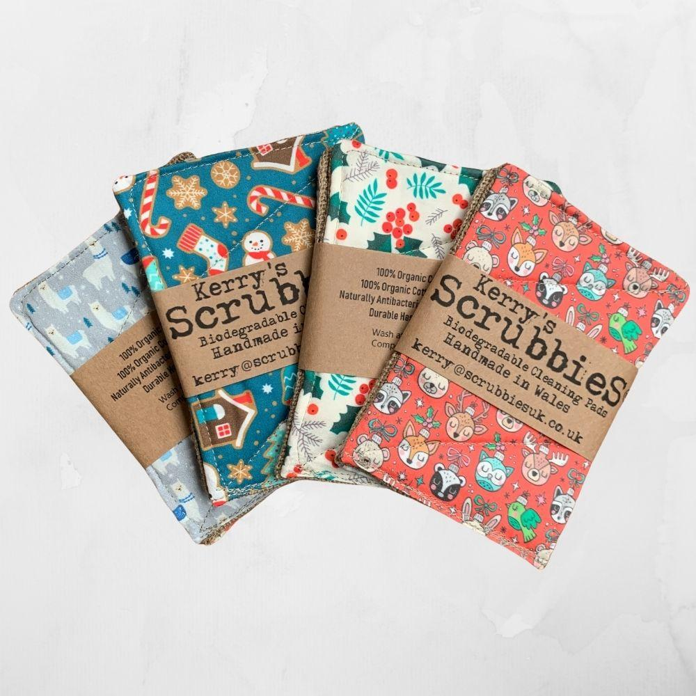 Scrubbies Washing Up Pads - Festive Patterns &Keep
