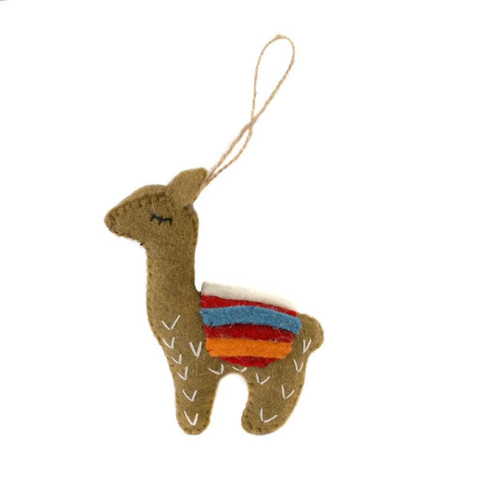 Llama Felt Hanging Decoration Shared Earth &Keep