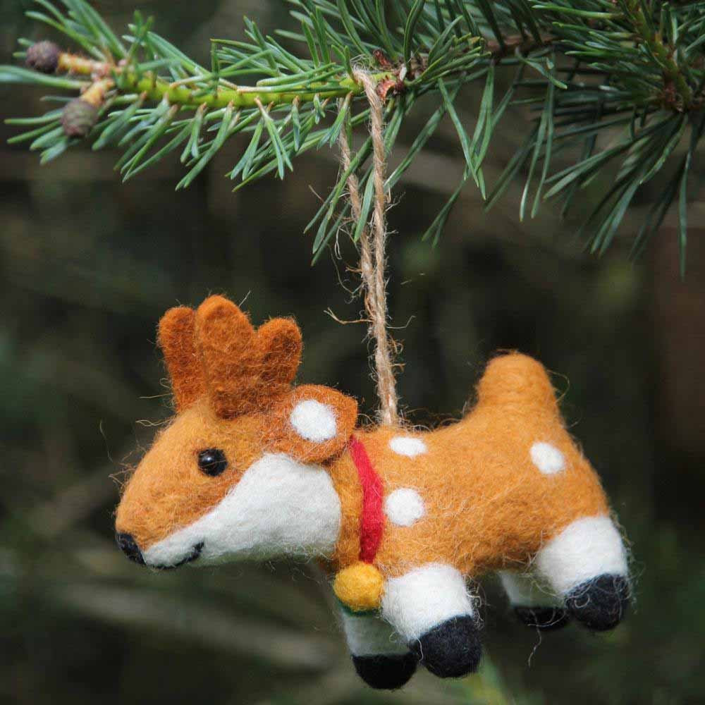Reindeer Felt Hanging Decoration Shared Earth &Keep