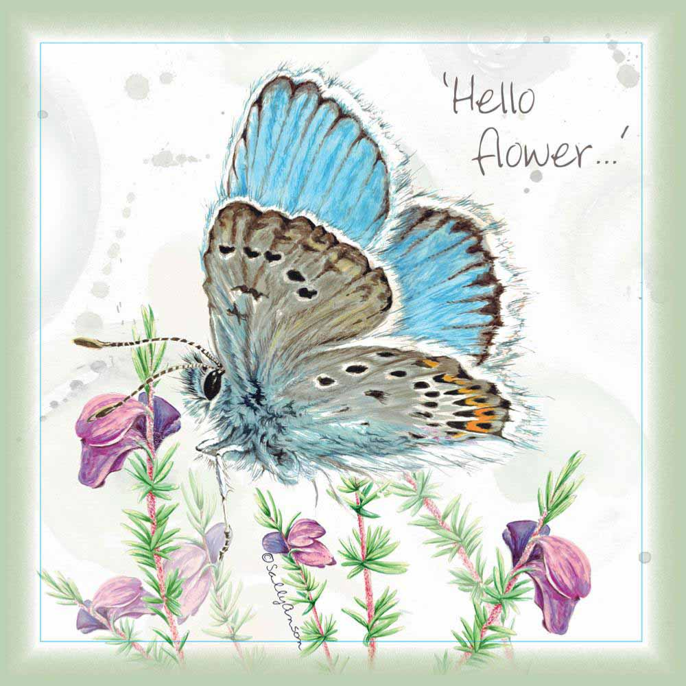 Charity Greetings Card by Shared Earth - Hello Flower &Keep