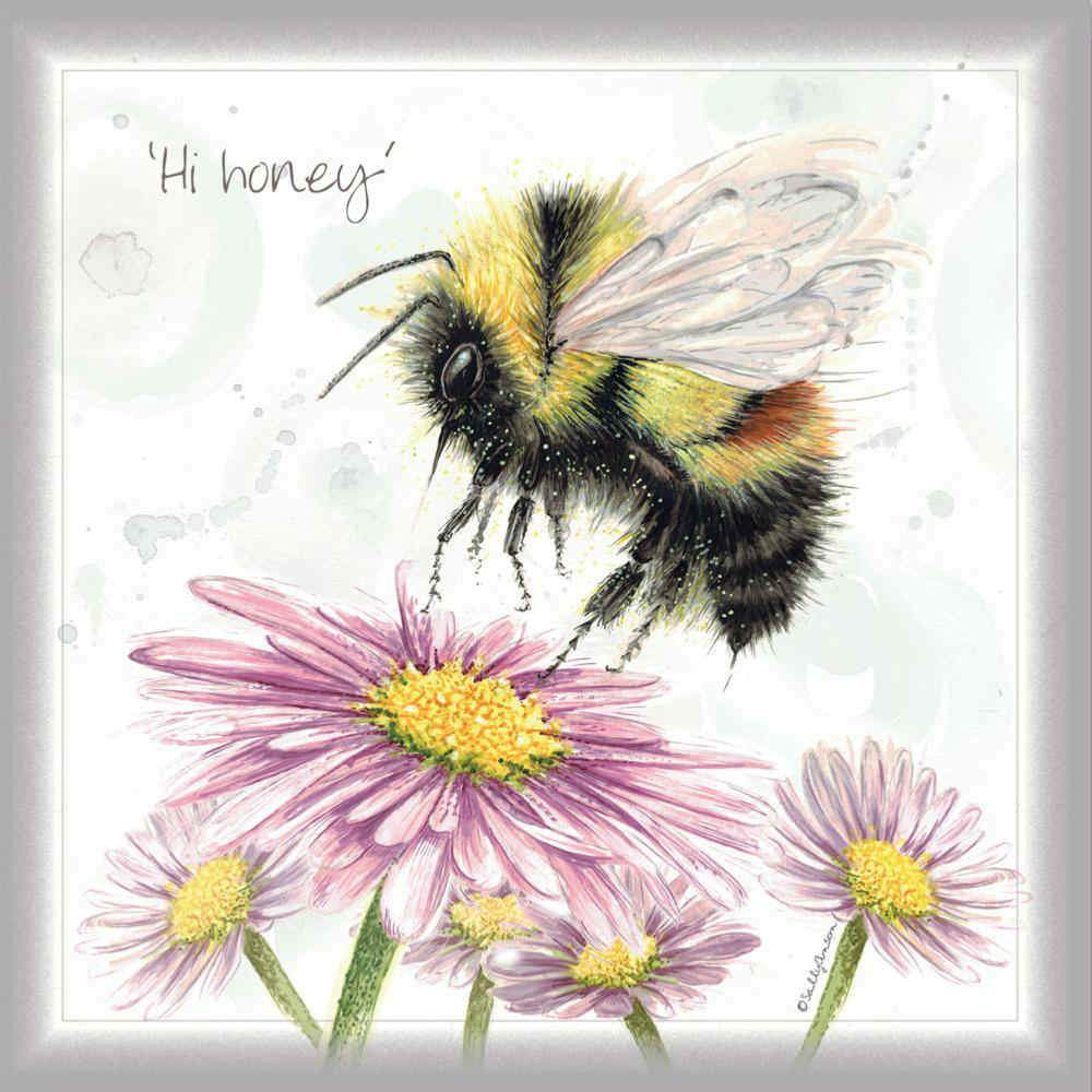 Charity Greetings Card - Hi Honey