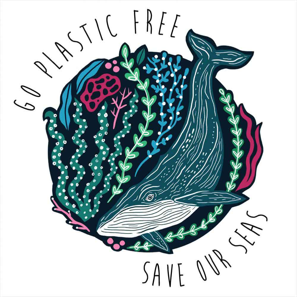 Greetings Card by Shared Earth - Save Our Seas &Keep