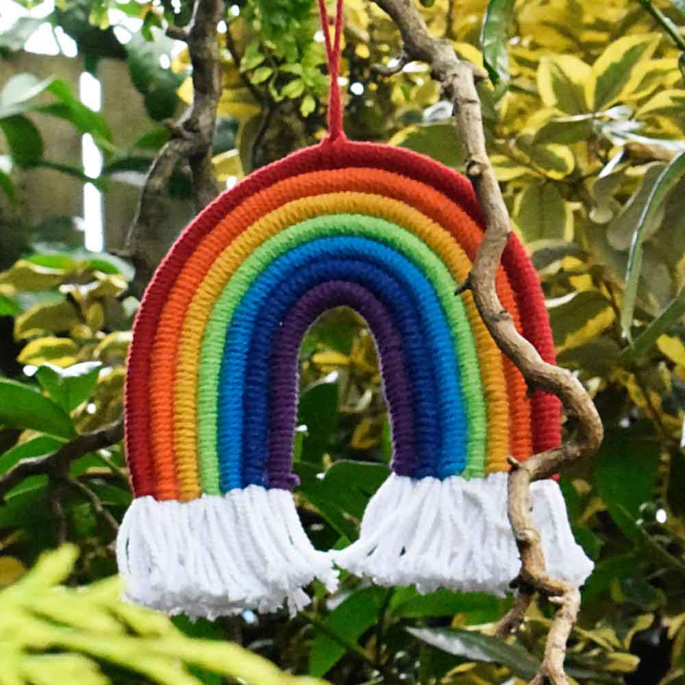 Macrame Rainbow Hanging Shared Earth &Keep