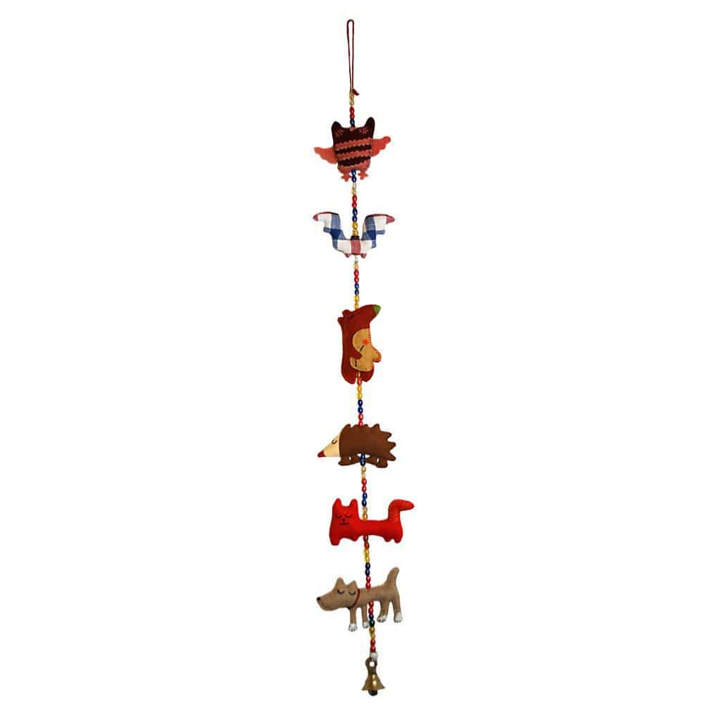 Handwoven Cotton Mobile (Tota Bells) - British Animals &KEEP