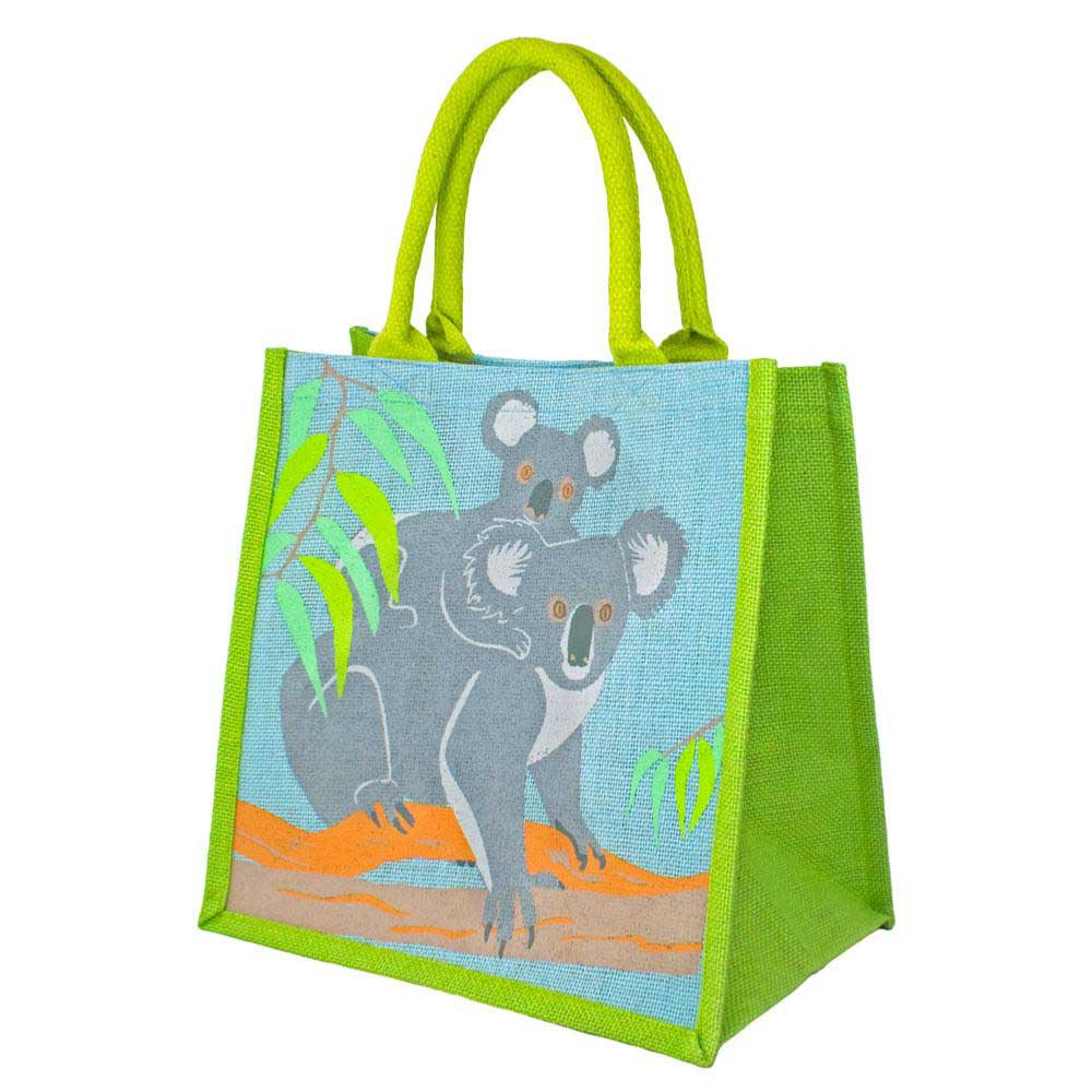 Medium Jute Bag by Shared Earth - Koalas