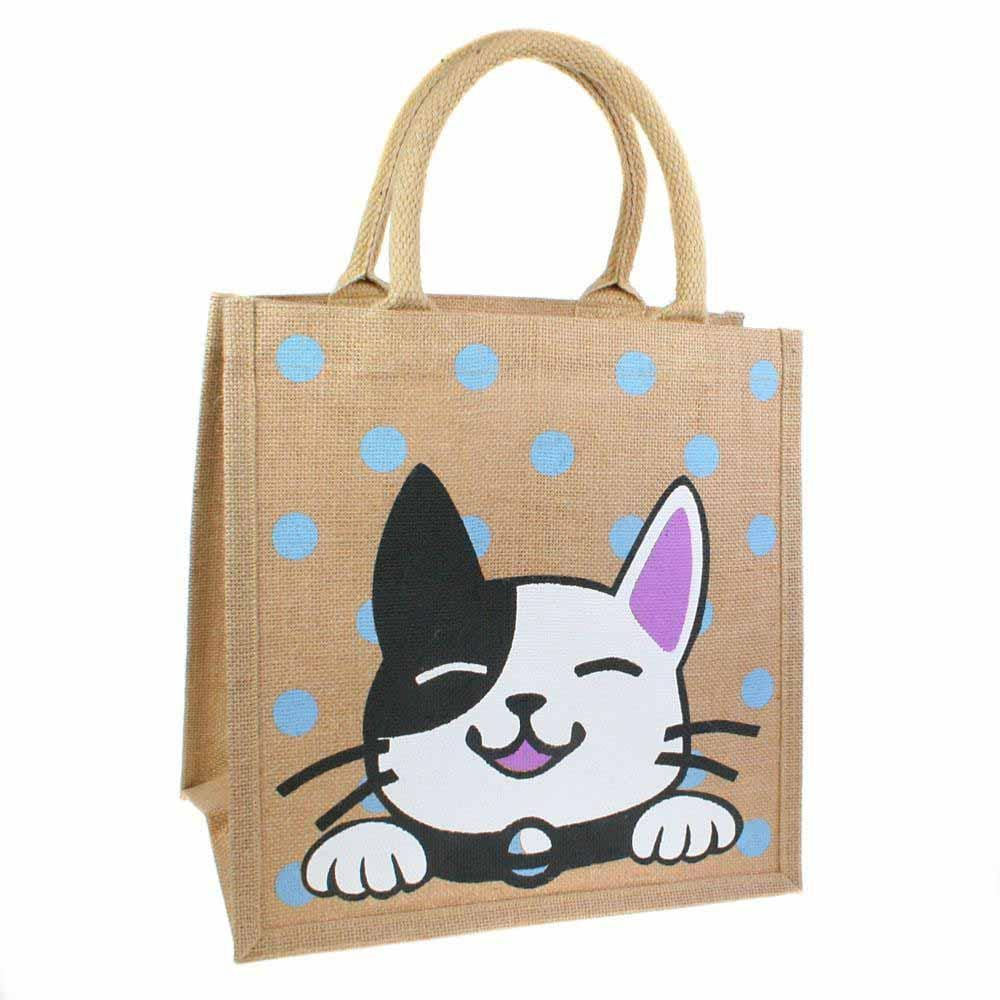 Medium Jute Shopping Bag by Shared Earth - Cat &Keep