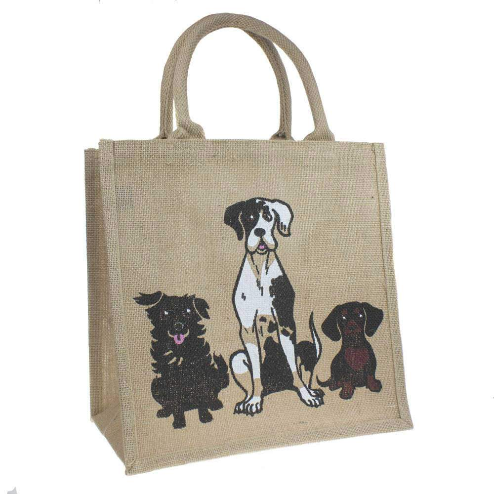 Medium Jute Shopping Bag by Shared Earth - Dogs &Keep