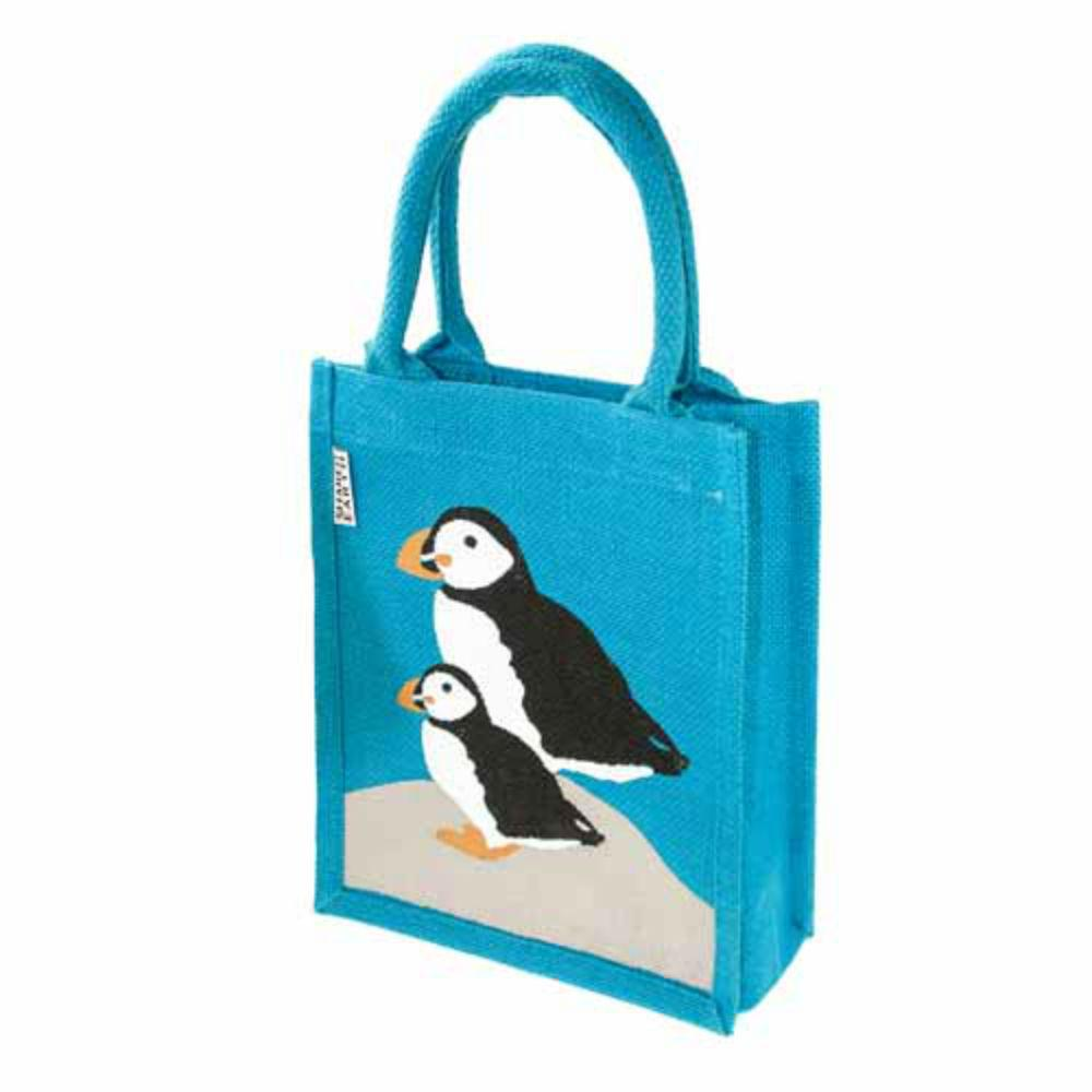 Small Jute Shopping Bag by Shared Earth - Puffin &Keep