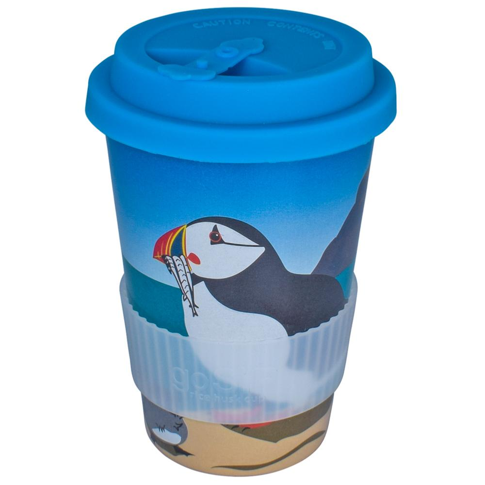goSIP Biodegradable Rice Husk Coffee Cup 14oz (400ml) - Puffins &Keep