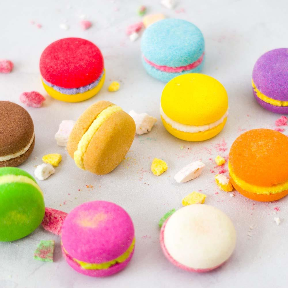 Bath Macaron Fizz Bomb Gift Set (6) by Soul & Soap &Keep