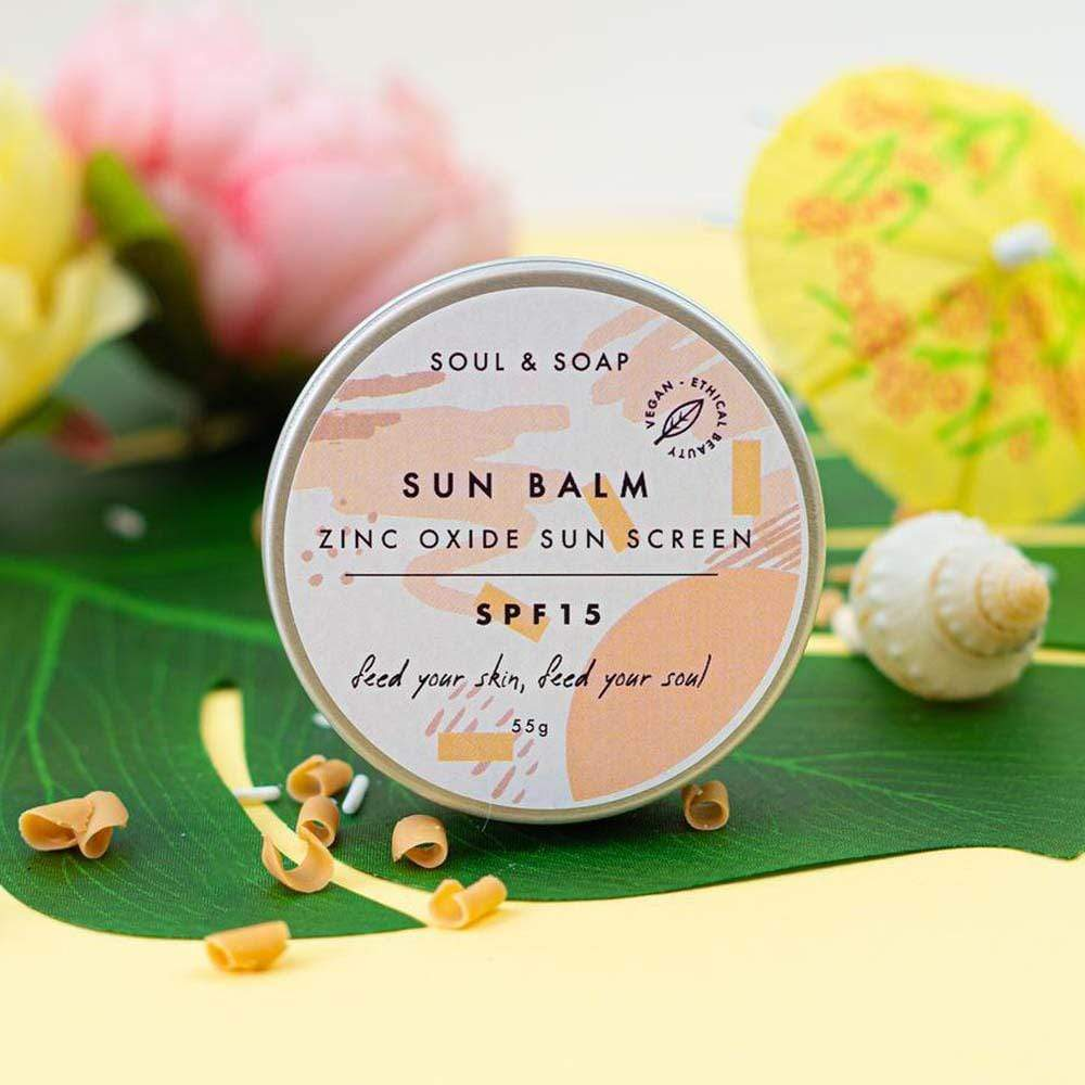 Vegan Sun Balm SPF 15 by Soul & Soap
