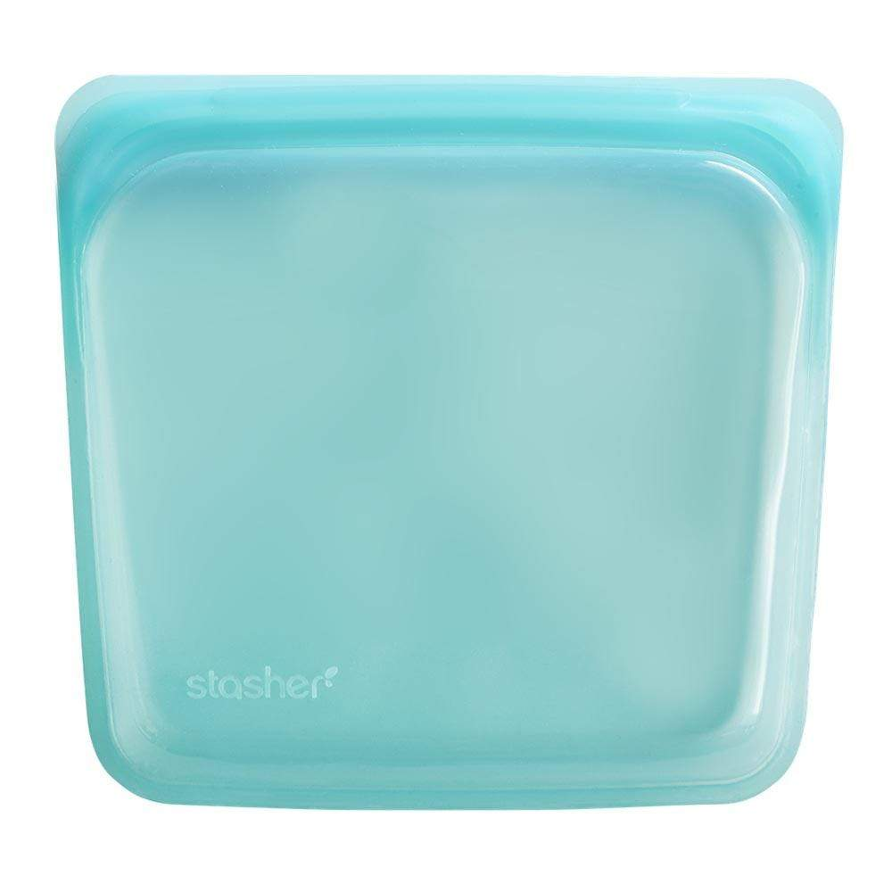 Stasher Reusable Silicone Sandwich Bag (450ml) Aqua &Keep