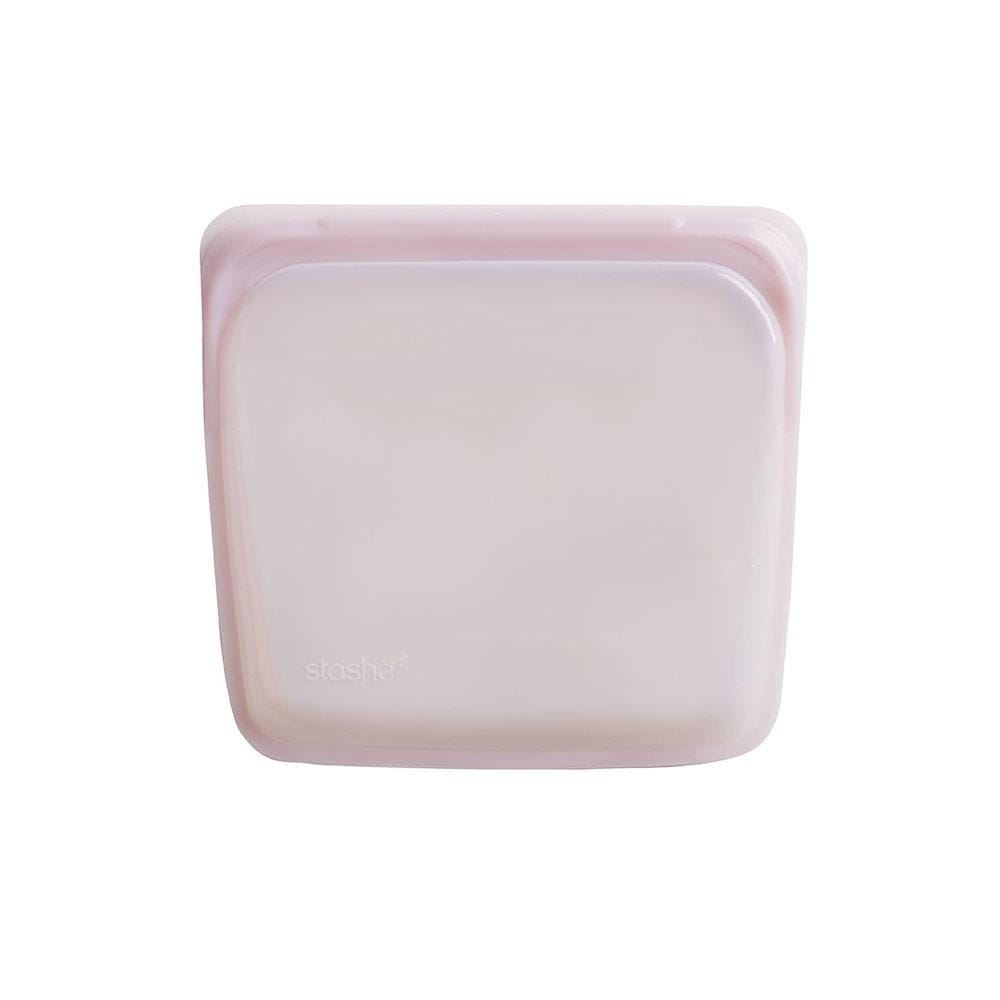 Stasher Reusable Silicone Sandwich Bag (450ml) Rose Quartz &Keep