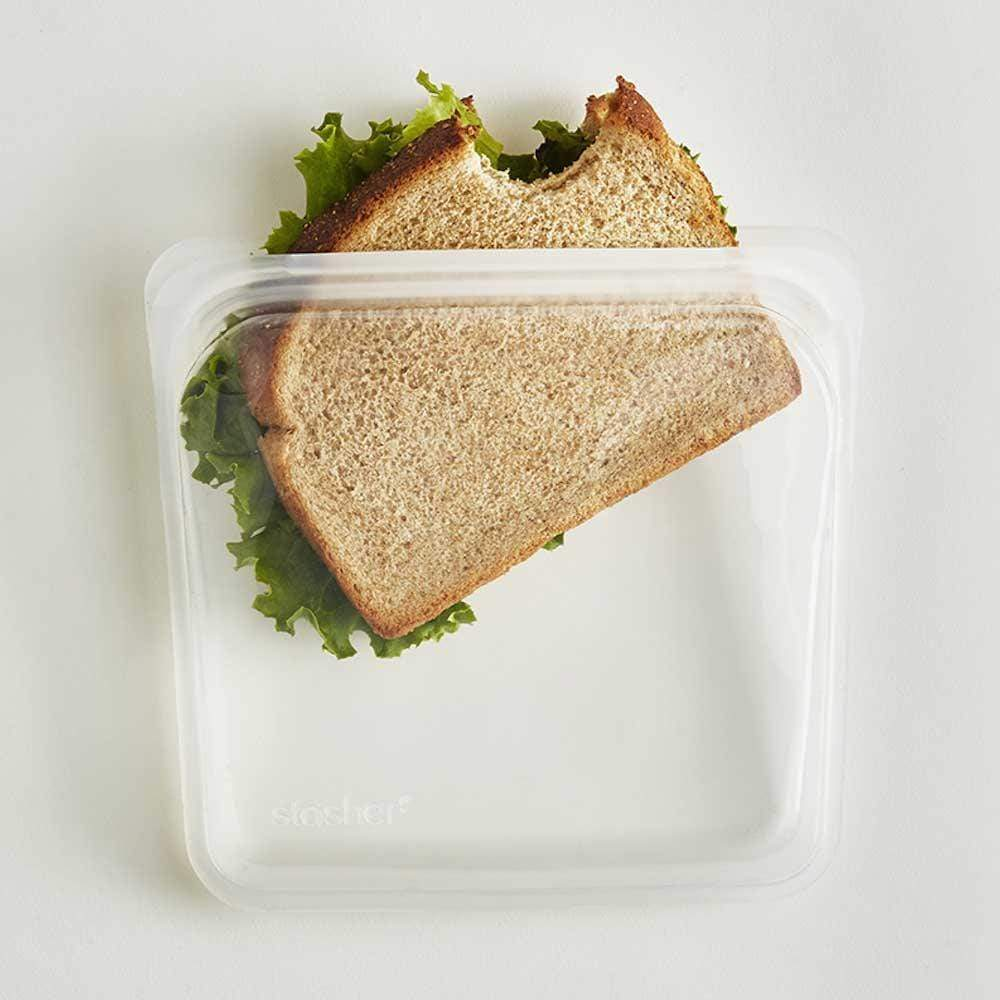 Stasher Reusable Silicone Sandwich Bag (450ml) Clear &Keep