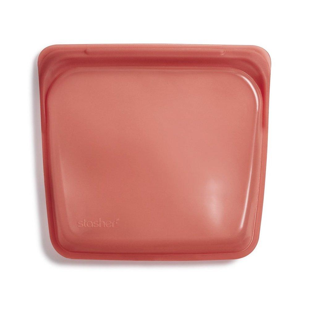 Stasher Reusable Silicone Sandwich Bag (450ml) Terracotta &Keep