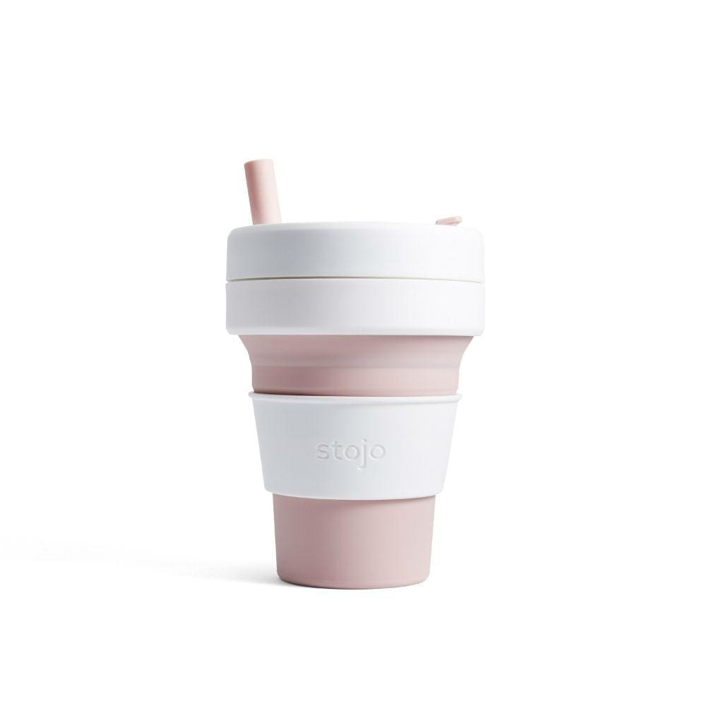 Stojo Stojo Biggie Collapsible Coffee Cup With Straw 16Oz (473Ml) - Rose &keep