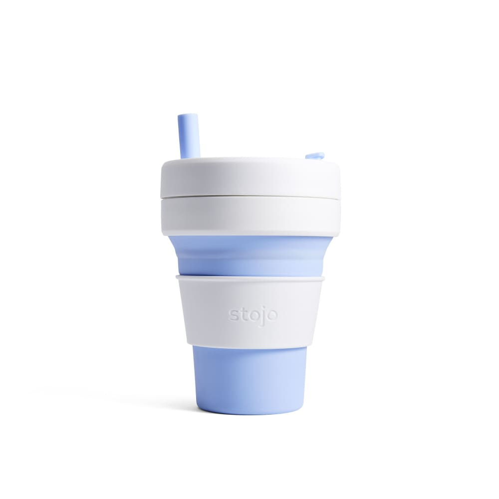 Stojo Stojo Biggie Collapsible Coffee Cup With Straw 16Oz (473Ml) - Sky &keep