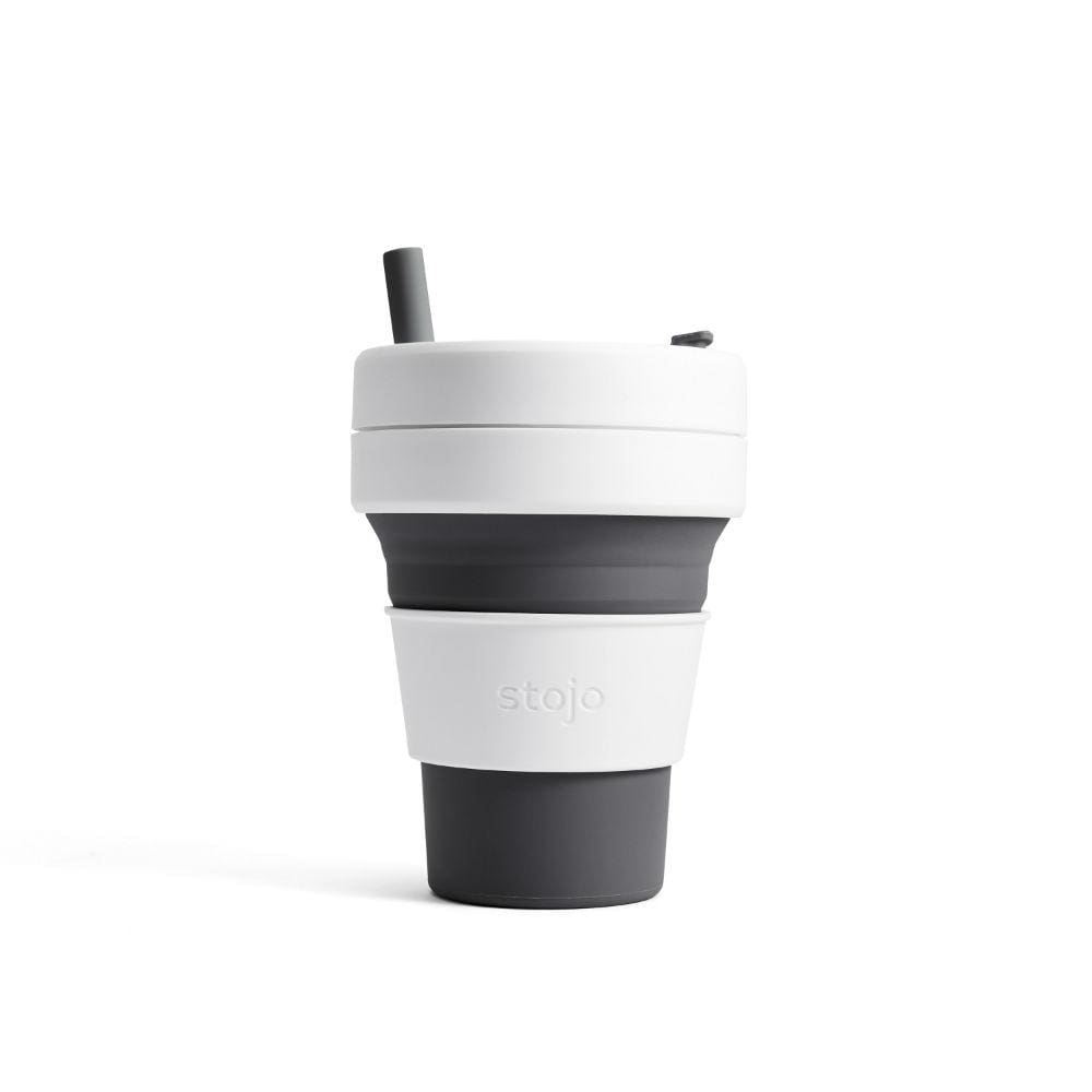 Stojo Stojo Biggie Collapsible Coffee Cup With Straw 16Oz (473Ml) - Slate &keep