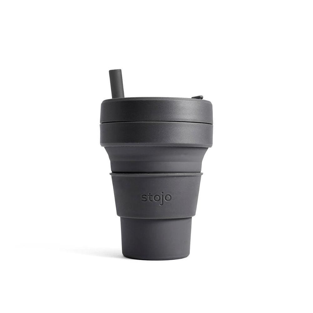 Stojo Stojo Brooklyn Biggie Collapsible Coffee Cup With Straw 16Oz (473Ml) - Carbon - Limited Edition &keep