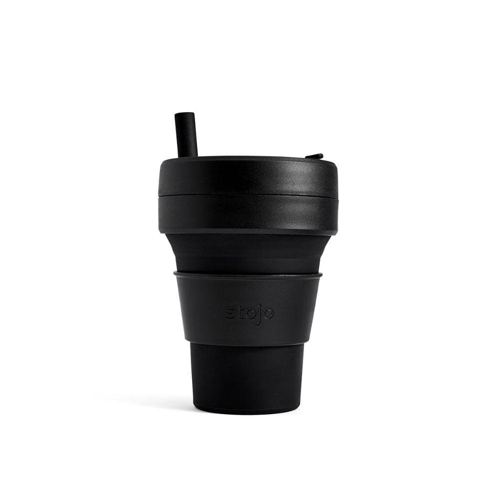 Stojo Stojo Brooklyn Biggie Collapsible Coffee Cup With Straw 16Oz (473Ml) - Ink - Limited Edition &keep