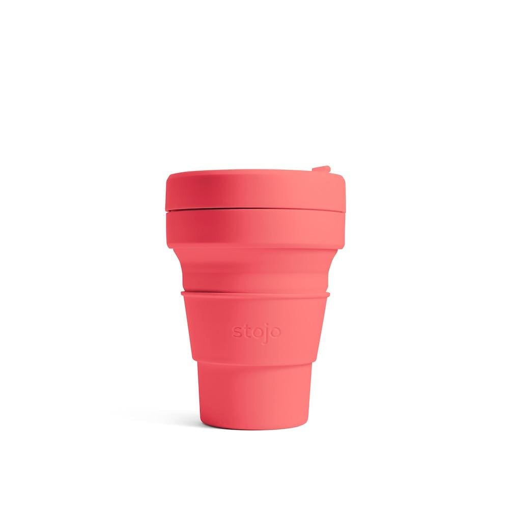 Stojo Stojo Brooklyn Collapsible Coffee Cup 12oz (355ml) - CORAL &Keep