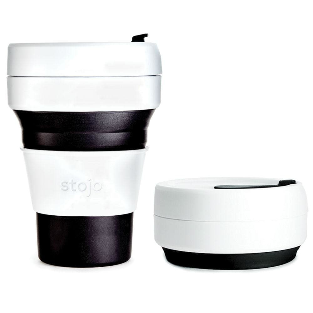 Stojo Stojo Collapsible & Reusable Coffee Cup 12Oz (355Ml) - Black &keep
