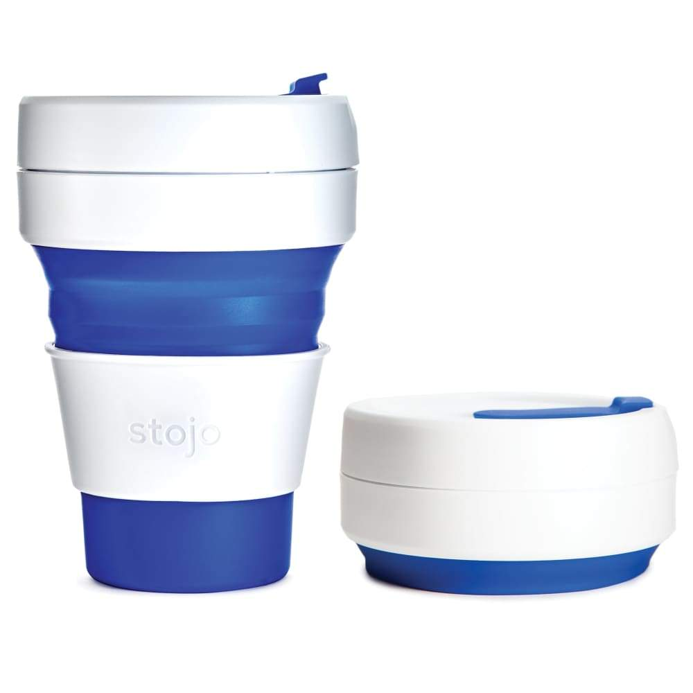 Stojo Stojo Collapsible & Reusable Coffee Cup 12Oz (355Ml) - Blue &keep