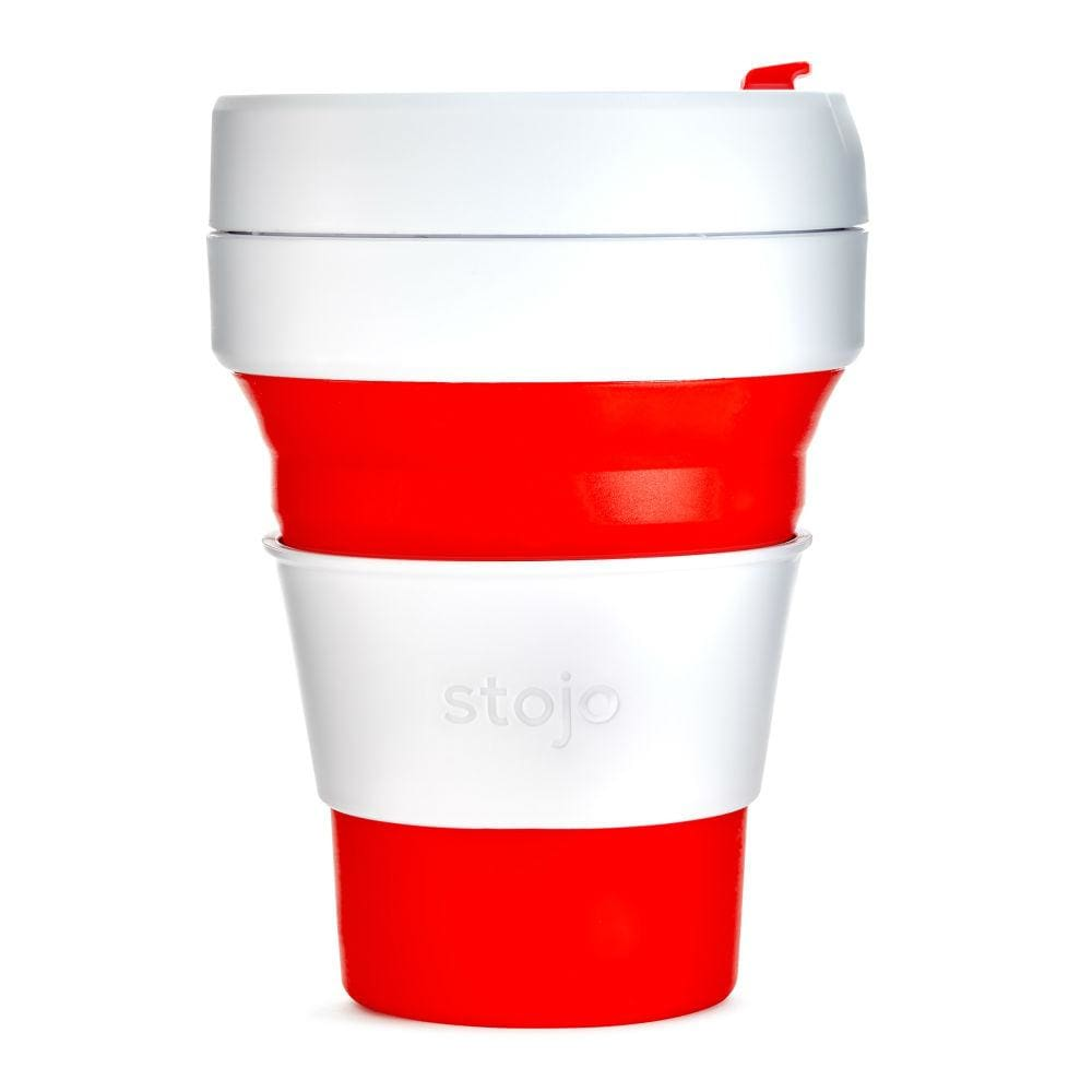 Stojo Stojo Collapsible & Reusable Coffee Cup 12Oz (355Ml) - Red &keep