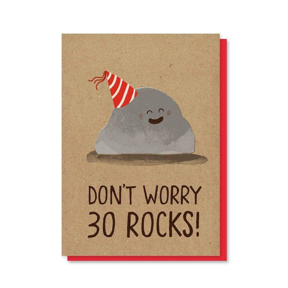 30 Rocks - Recycled Greetings Card Stormy Knight &Keep