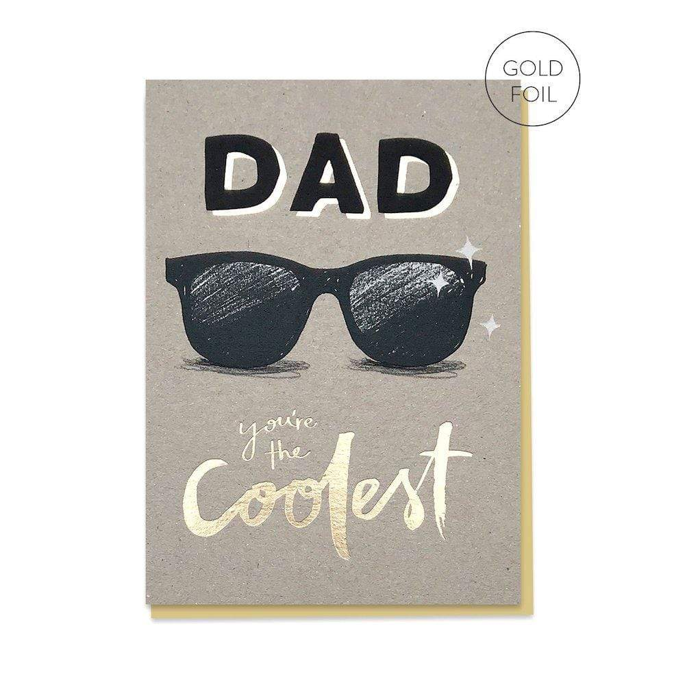 Dad You're the Coolest - Recycled Greetings Card &Keep
