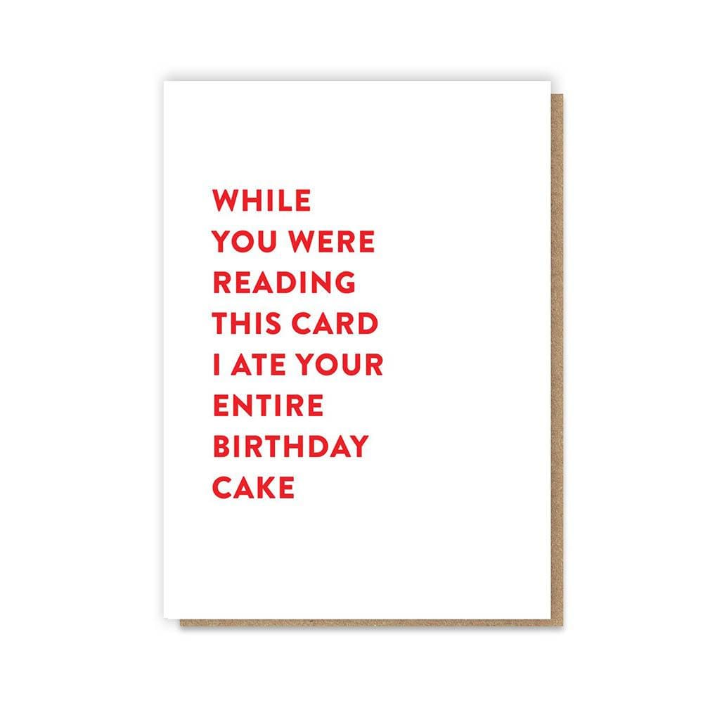Entire Cake Greetings Card &Keep