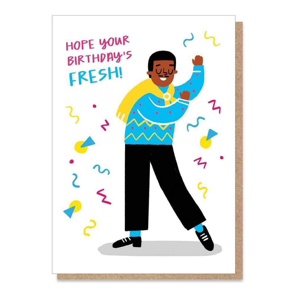 Fresh Prince Carlton Birthday Card plastic-free &Keep
