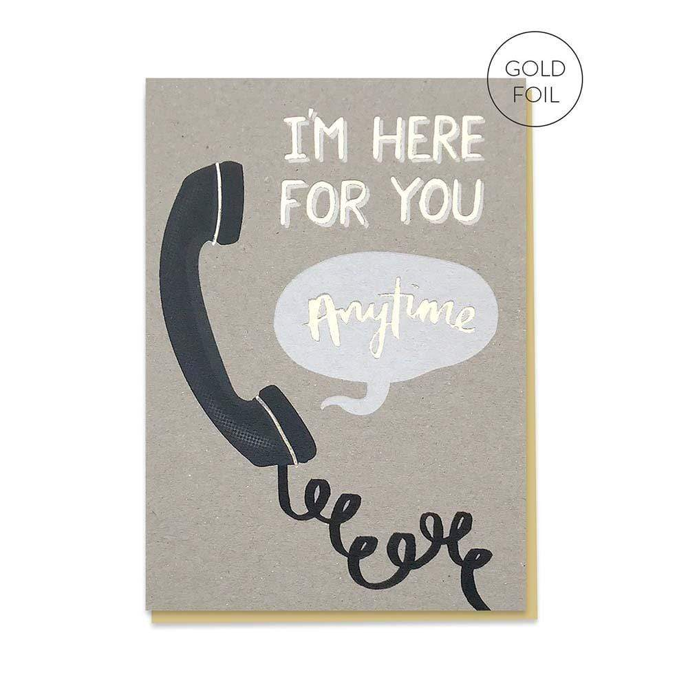 Here For You - Recycled Greetings Card &Keep