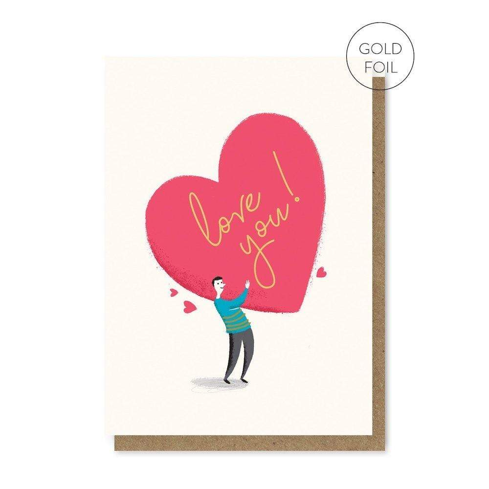 Love You - Recycled Greetings Card Stormy Knight &Keep