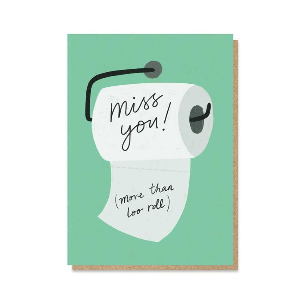 'Miss You More Than Loo Roll' NHS Charity Greetings Card &Keep