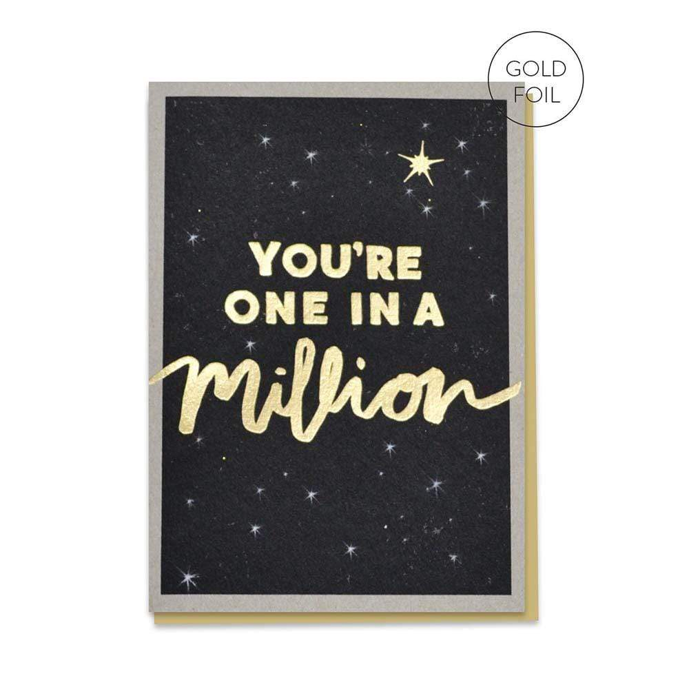 One In A Million - Recycled Greetings Card &Keep